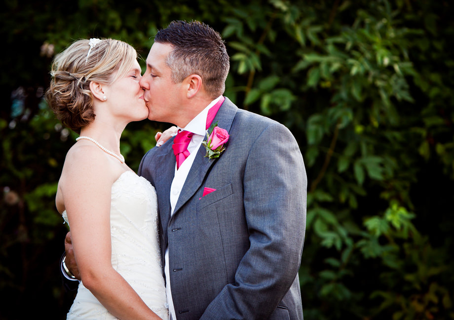 Somerset Bride and Groom Kiss