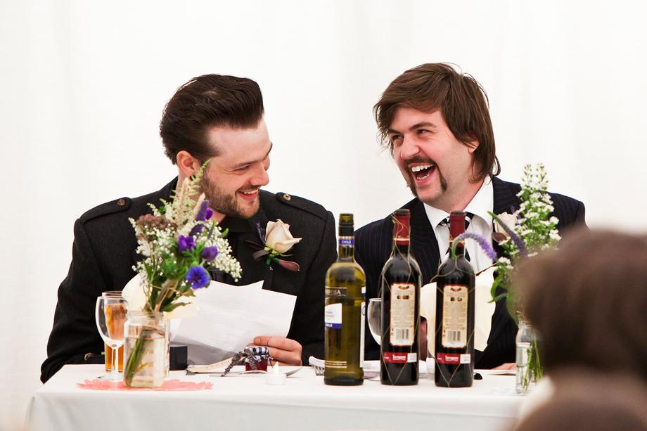 Best Men Rehearsing Speeches