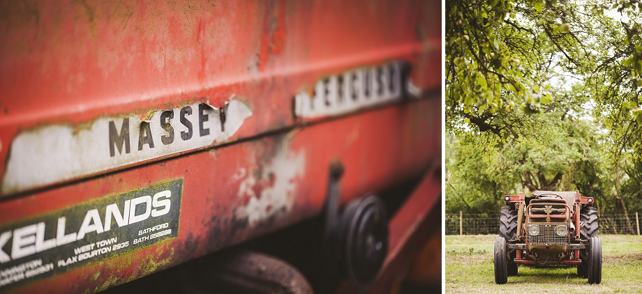 southwest wedding photography, wedmore wedding photos, vintage wedding photographer, summer weddings in somerset, tractor
