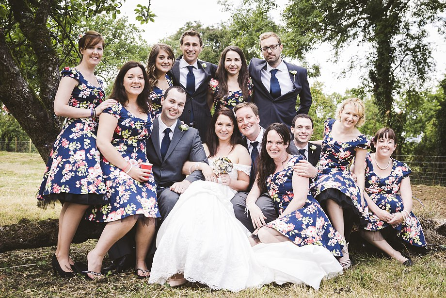 southwest wedding photography, wedmore wedding photos, vintage wedding photographer, summer weddings in somerset, bridal party, group shots