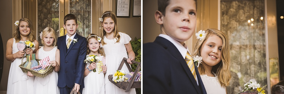 page boy and flower girls at holbrook house