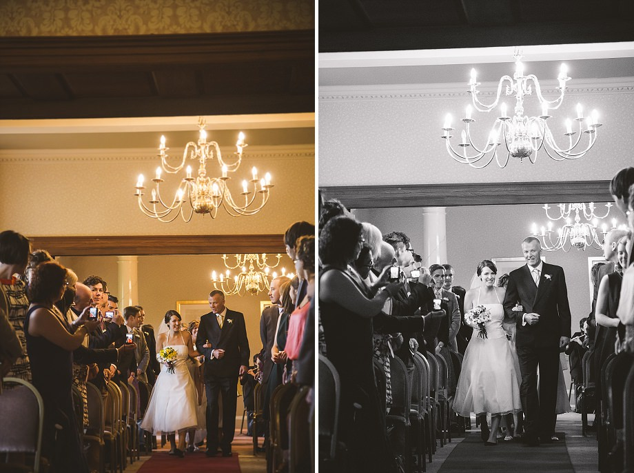 holbrook house ceremony photos bride aisle