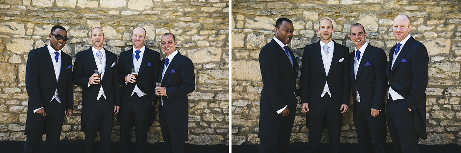 groomsmen at the three horseshoes