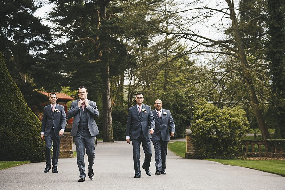 groomsmen at wellington college
