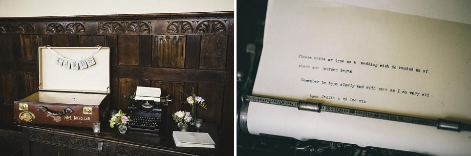 vintage typewriter wedding