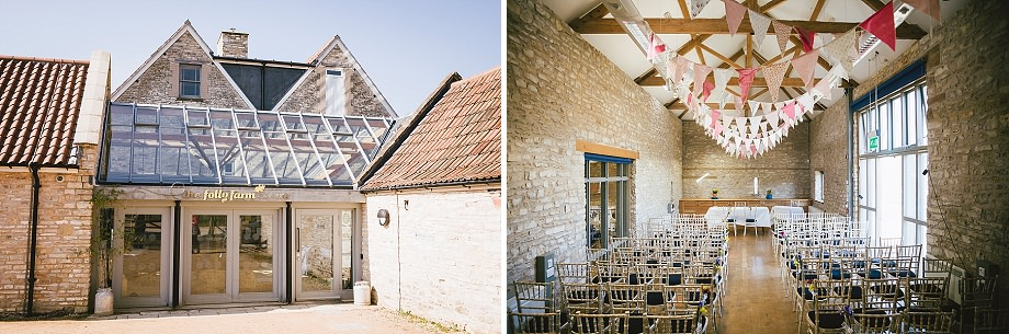 folly farm wedding photos
