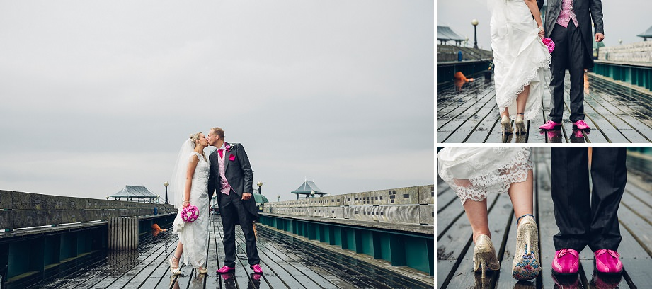 wedding photos on clevedon pier