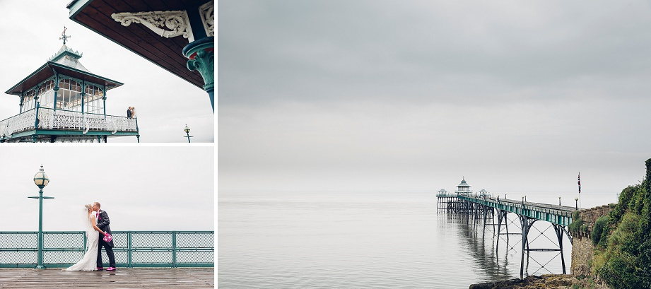 clevedon pier in the rain