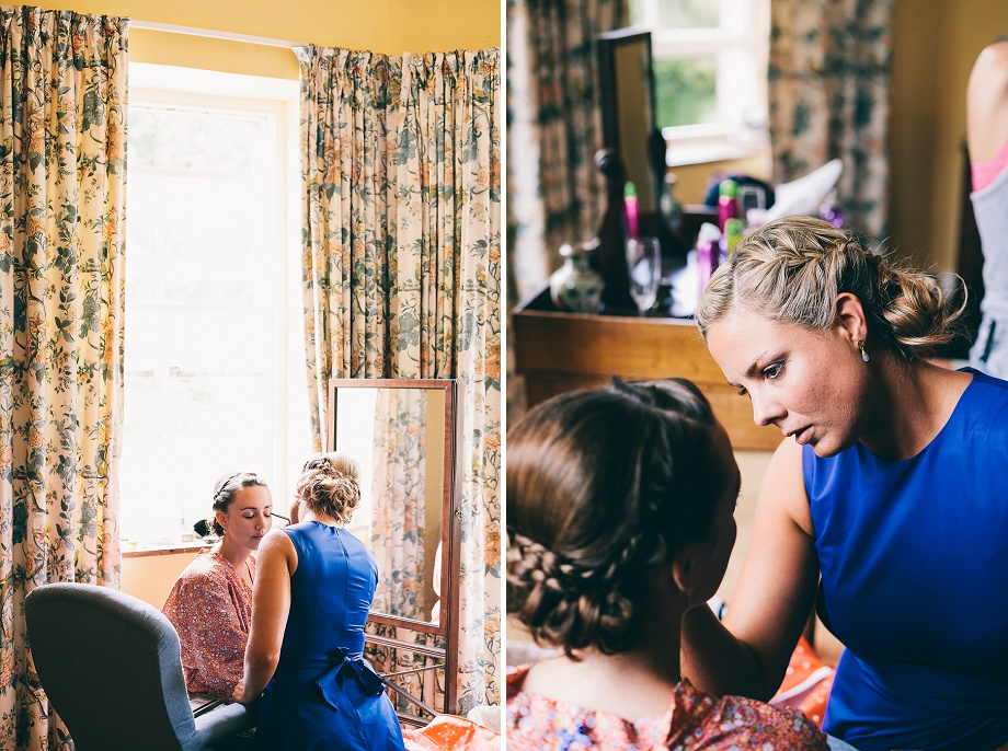 bridal prep at east pennard
