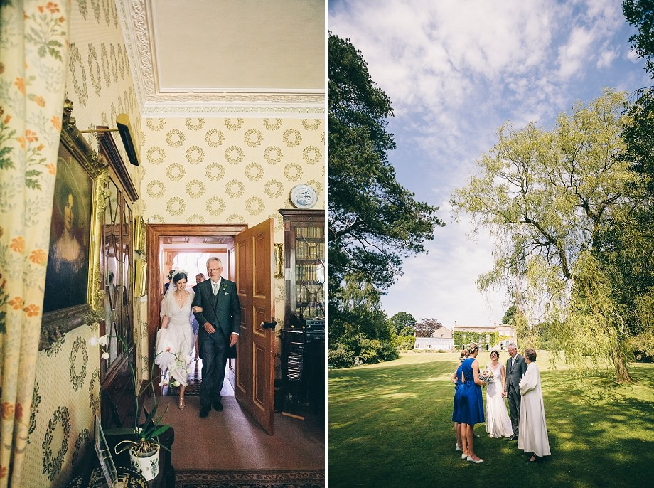 east pennard bride and father of the bride