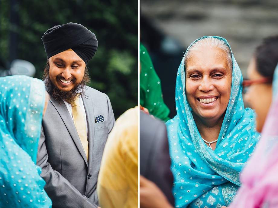 wedding photography at the sikh tmeple in bristol