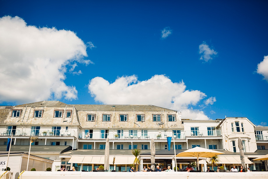sandbanks hotel wedding photographer