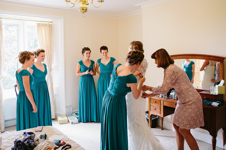 bride and bridemaids somerset