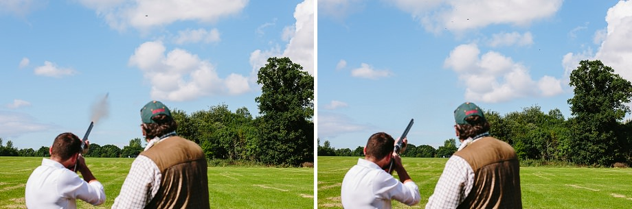 clay pigeon shooting in somerset