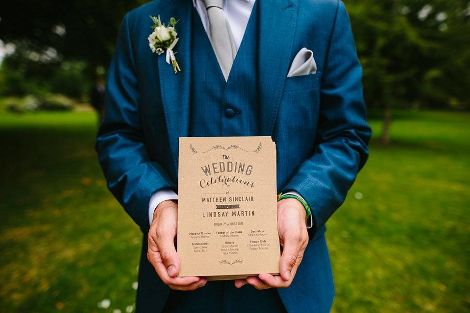 wedding orders of service uk