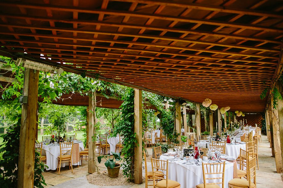 outdoor wedding breakfast venue in somerset