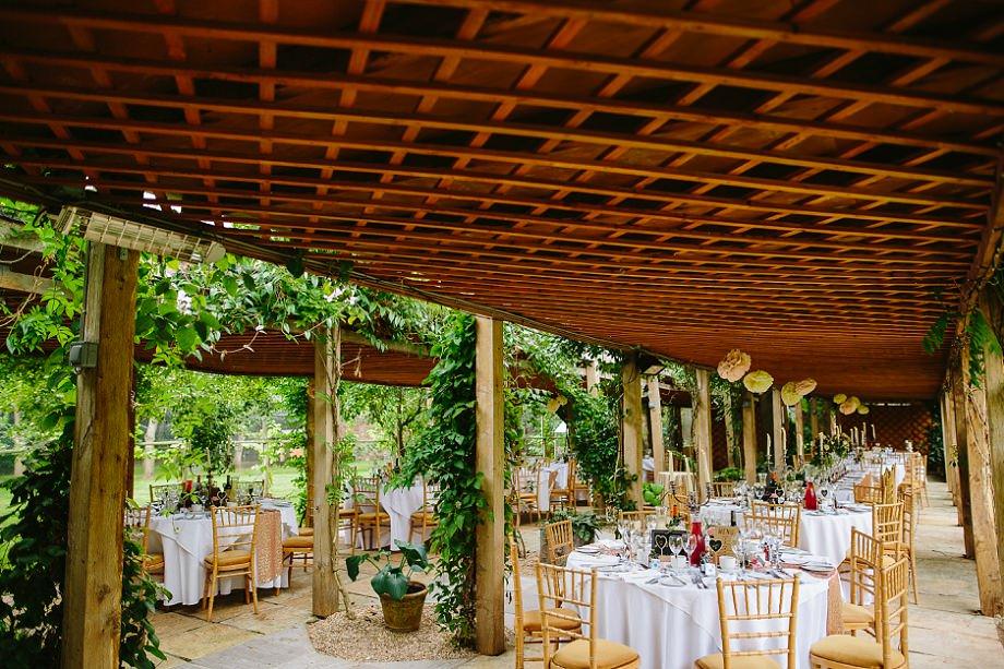 outdoor wedding breakfast venue in somerset