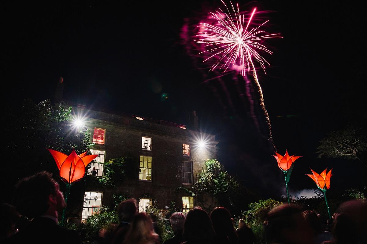 wedding fireworks somerset