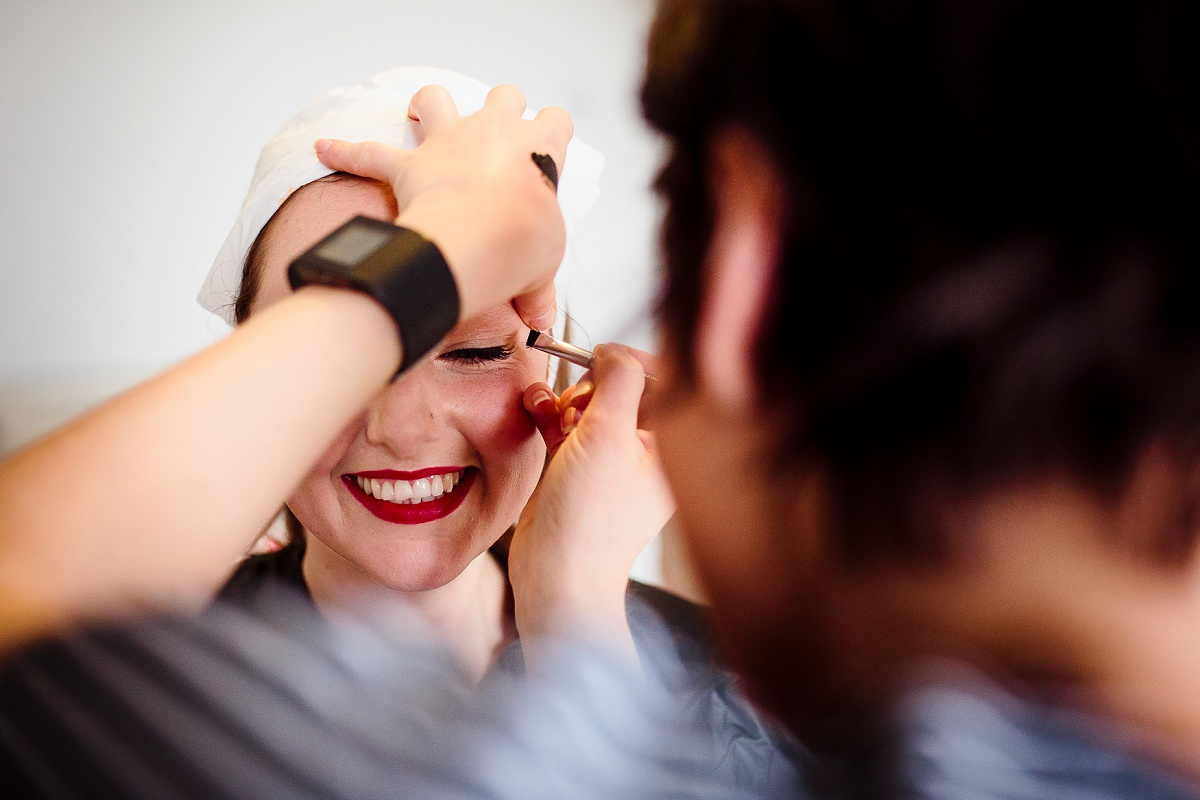bridal prep photography in london
