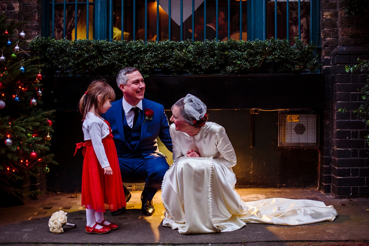 christmas wedding photography in london