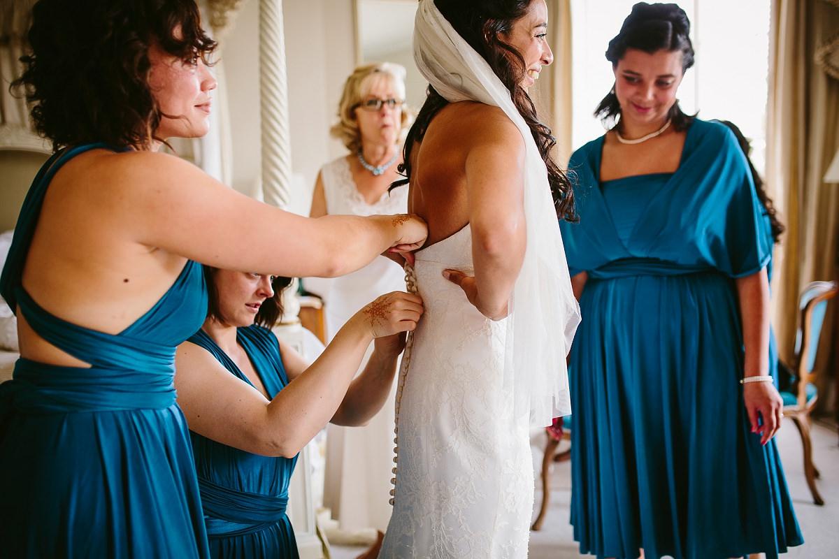 bridal prep at north cadbury court
