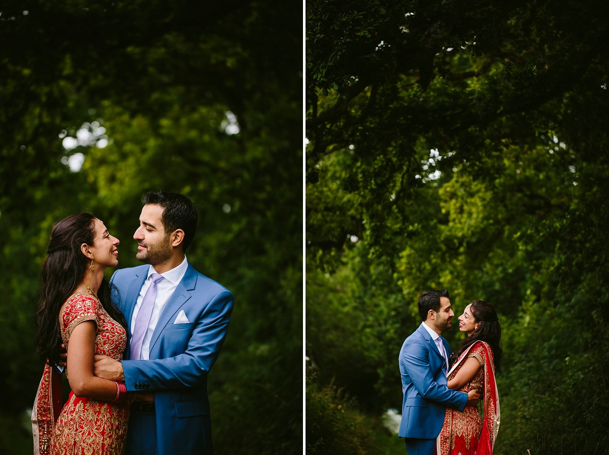 bride and groom portraits at north cadbury court