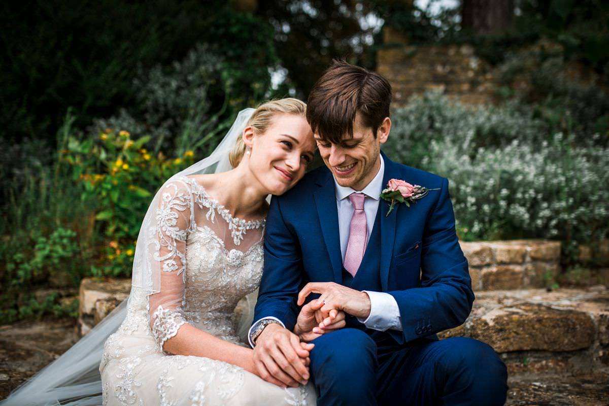 bride and groom portraits at brympton house