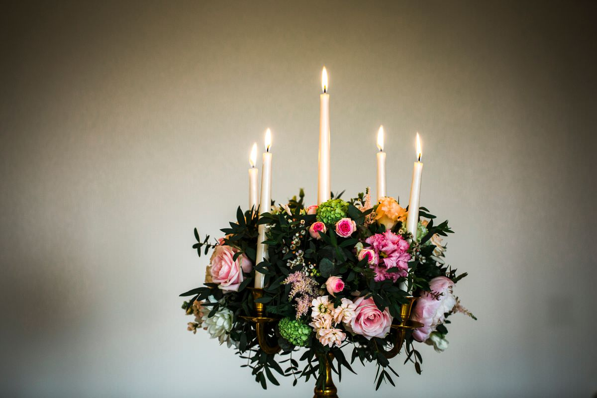 table decorations at brympton house
