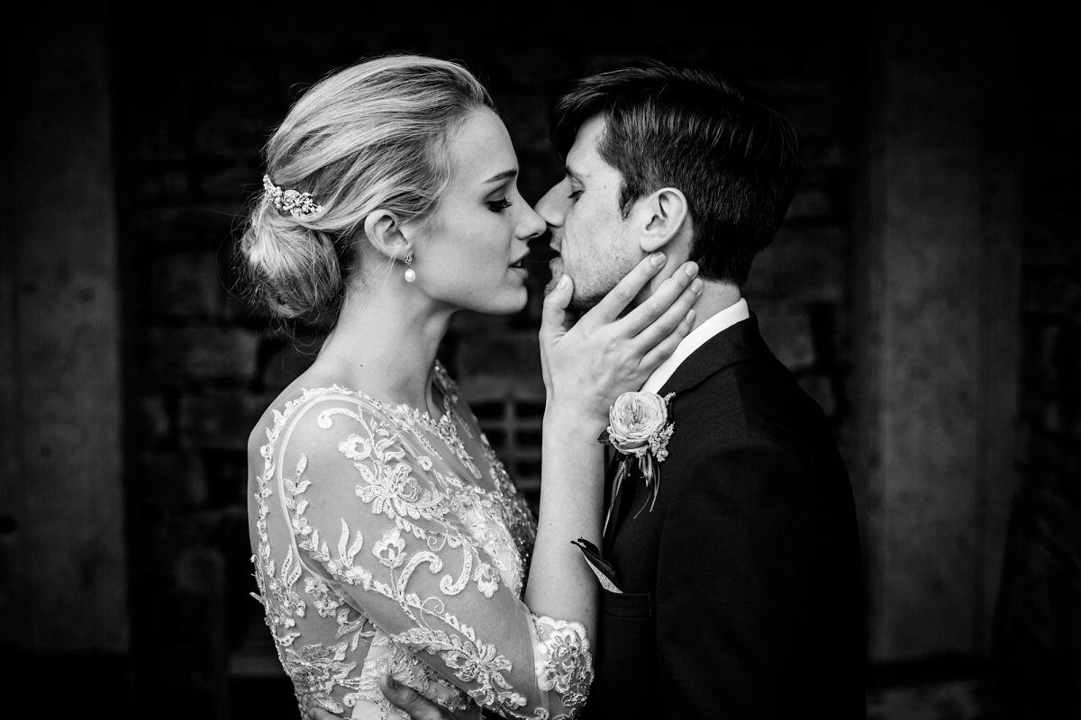 bride and groom portraits in somerset