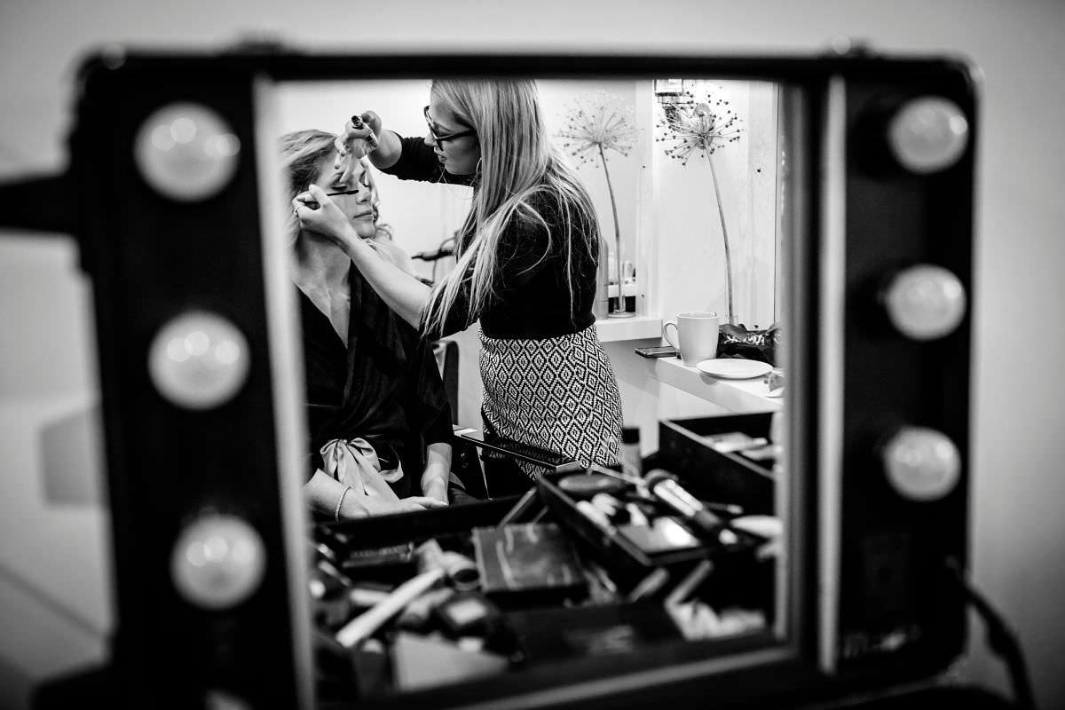 the salon bruton bridal prep photos