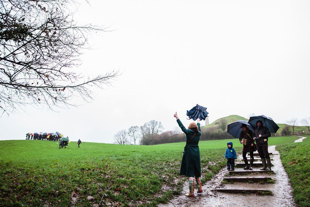 glastonbury tor wedding photography