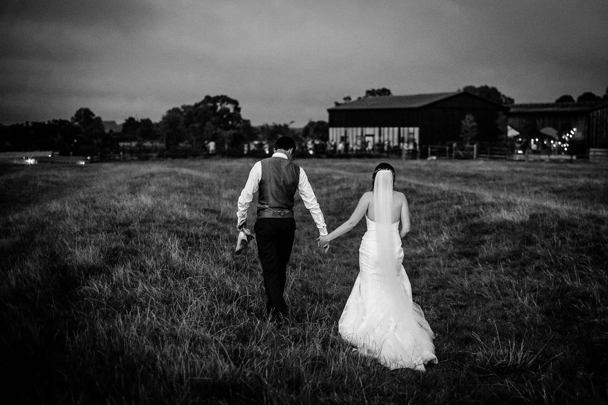 night photography wedding