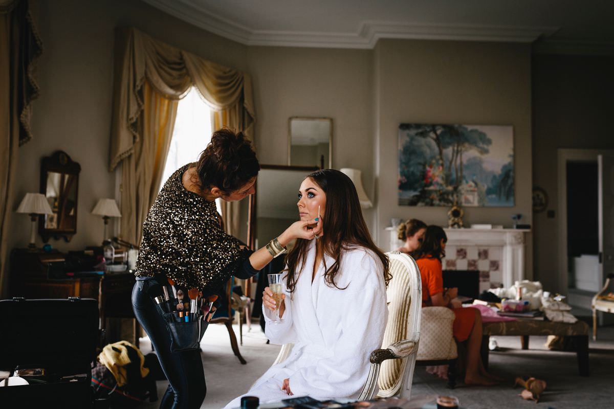 bridal prep at north cadbury court