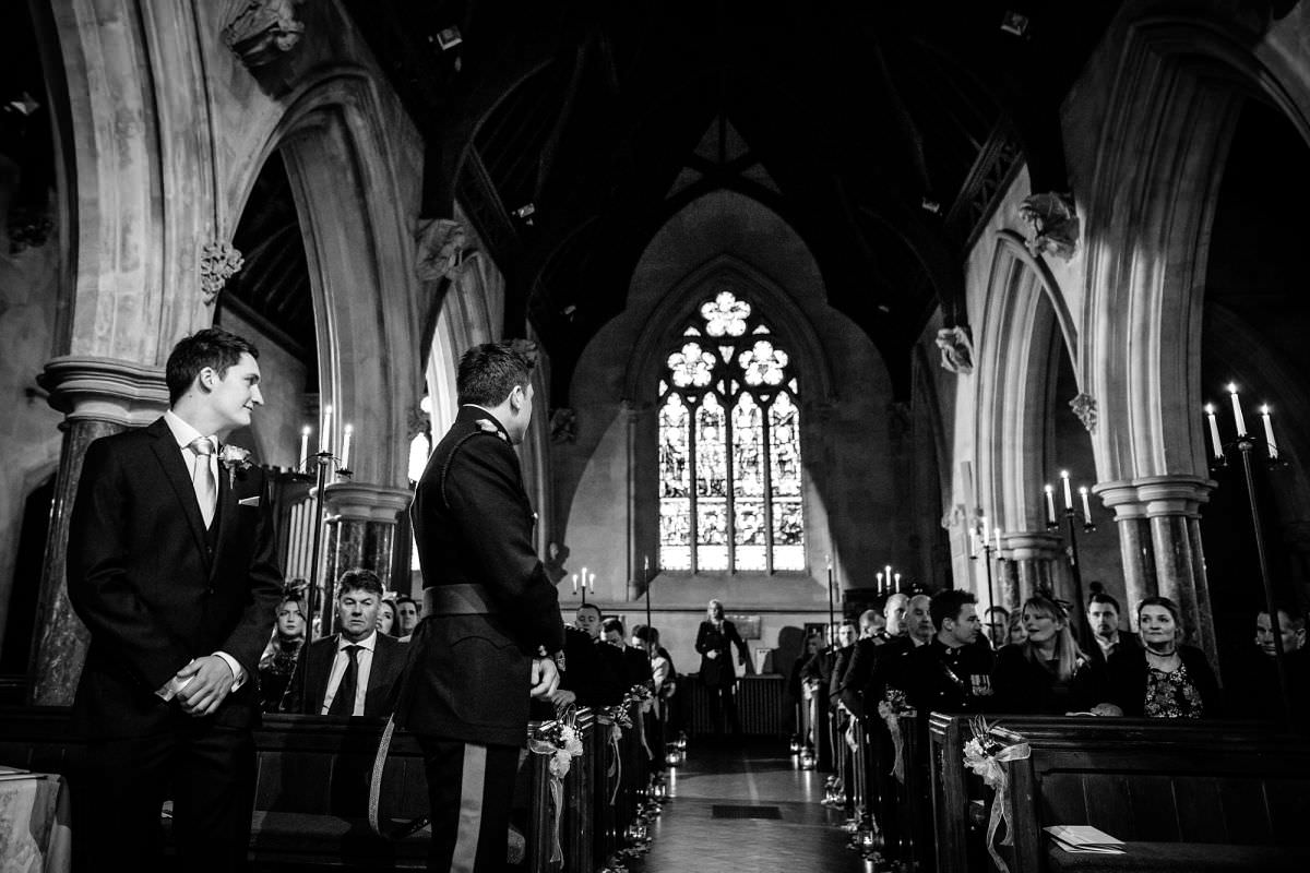 st audries park church wedding ceremony