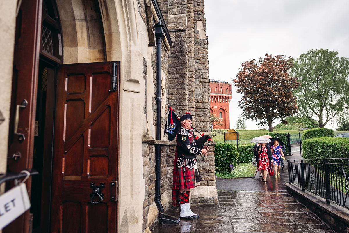 somerset bagpipe player