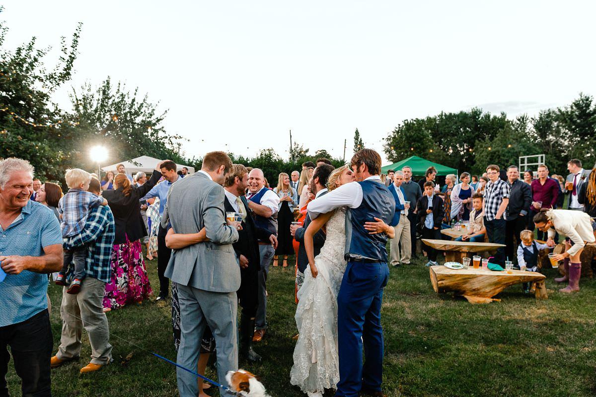 outdoor wedding reception somerset