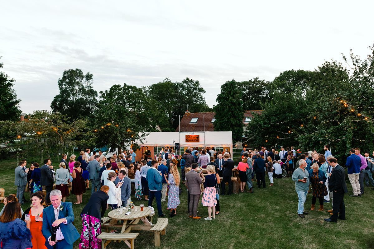 outdoor wedding reception somerset