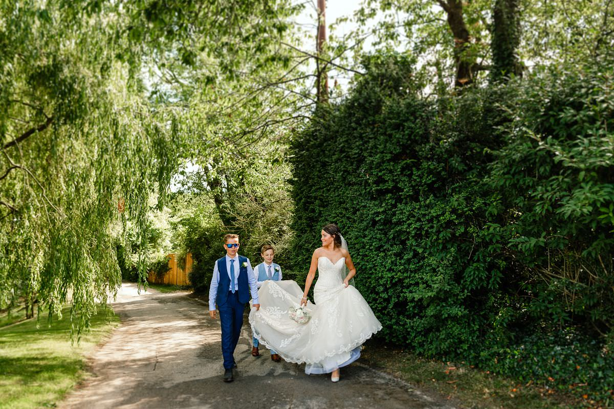 the clock barn whitchurch wedding