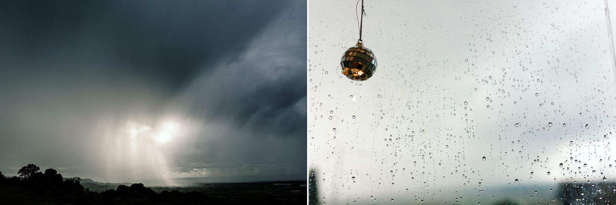 wet weather wedding photography gloucester