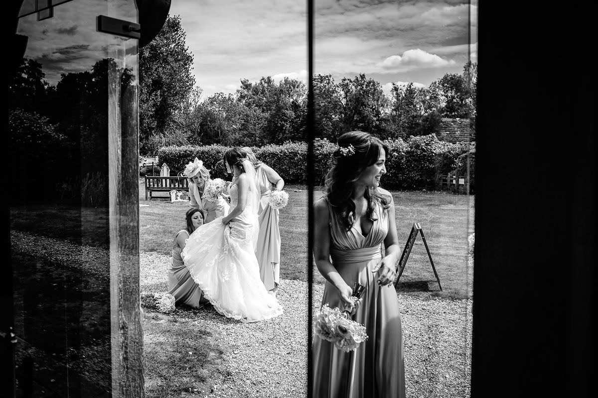 black and white wedding photographer somerset