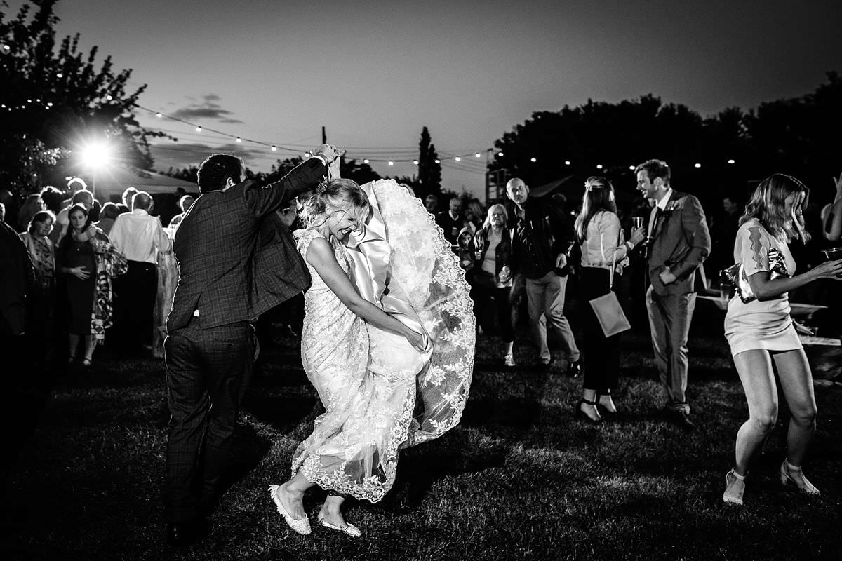 first dance outdoors