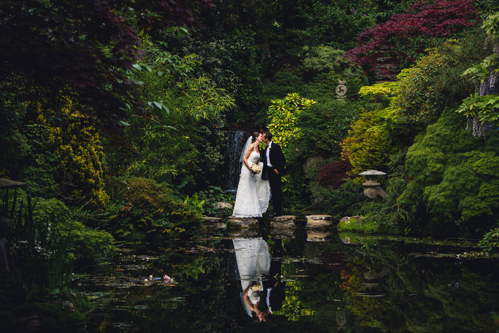 italian villa wedding portraits