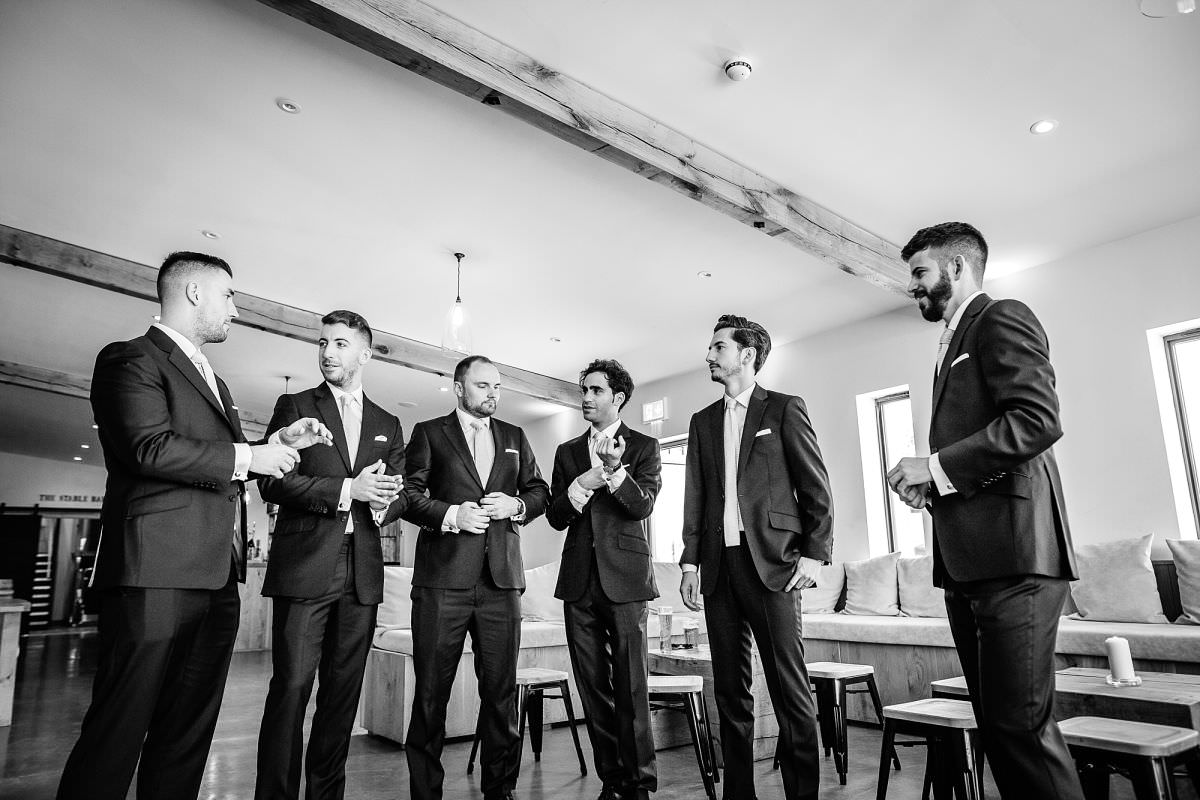 groomsmen at upton barn
