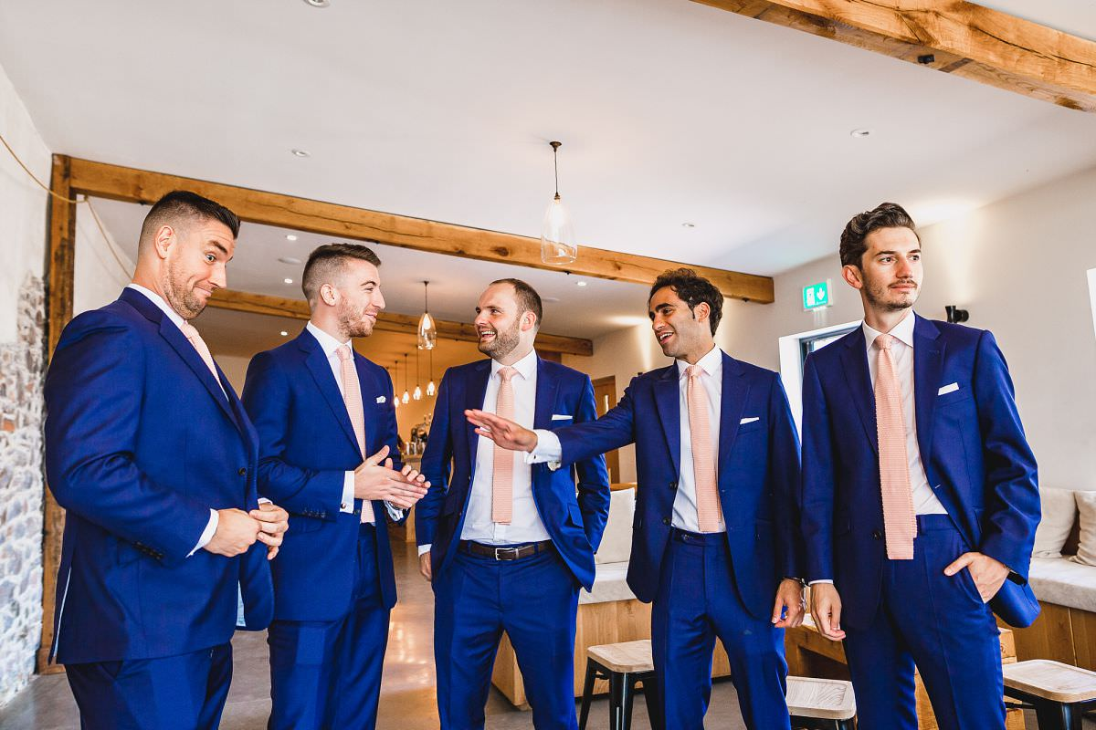groomsmen at upton barn