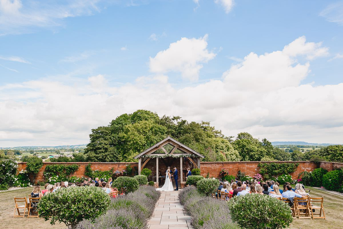 wedding ceremony at upton barn in devon