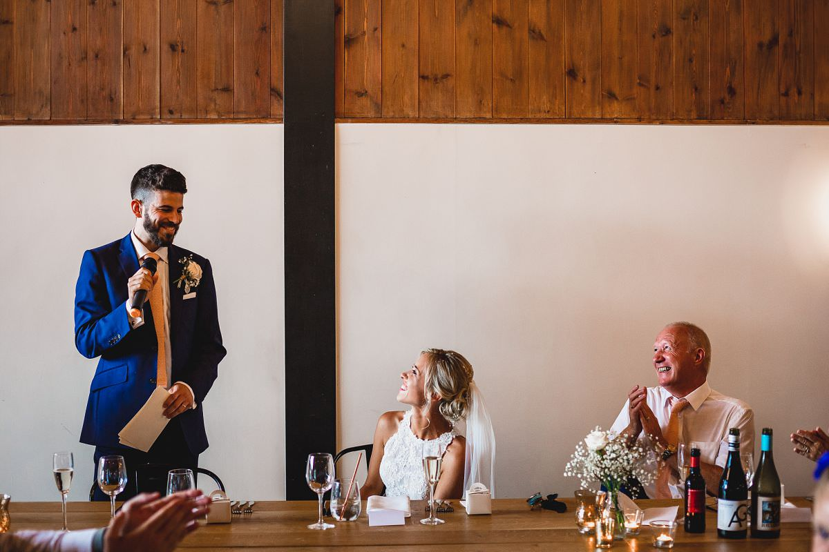 wedding speeches upton barn devon