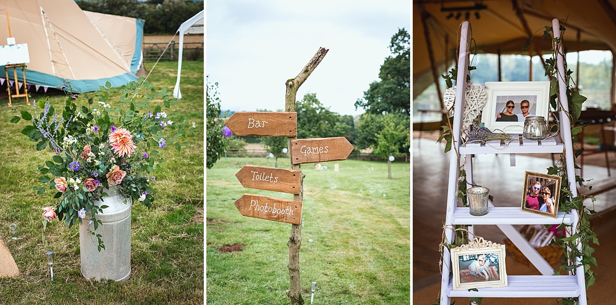 diy marquee wedding devon