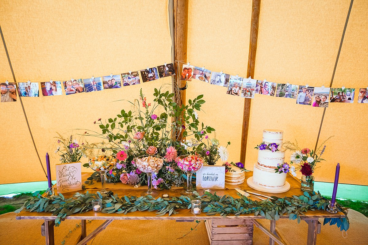 bride and groom table decorations devon