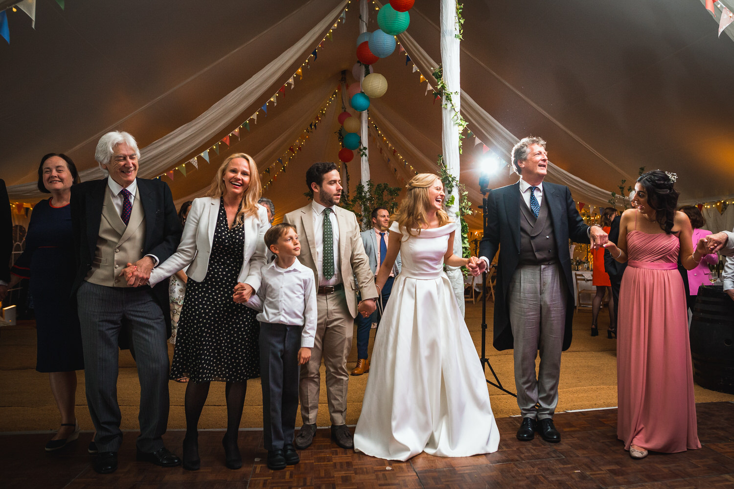 marquee wedding ceilidh dancing