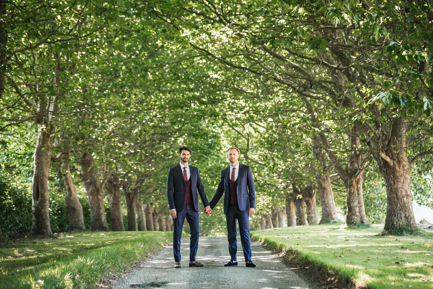 groom and groom at brympton house